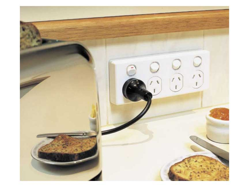 Quad socket in kitchen