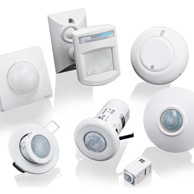 Range of Clipsal Motion Sensors and Occupancy Sensors