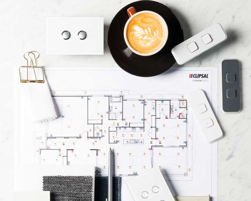 Inspiring mood board with Clipsal electrical products