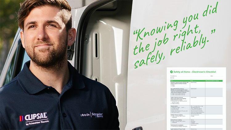 Clipsal endorsed electrician considering the safety checklist