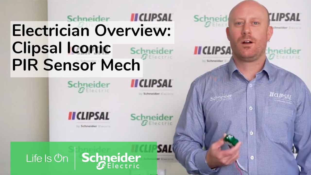 Video outlining the Clipsal Iconic PIR sensor mech