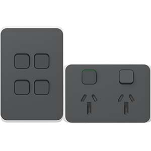 Iconic Anthracite switch and power point