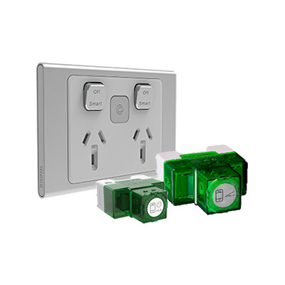 Clipsal Wiser Iconic Solution, DIMMER SWITCH, socket styl skin
