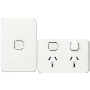 Iconic Vivid White switch and power point