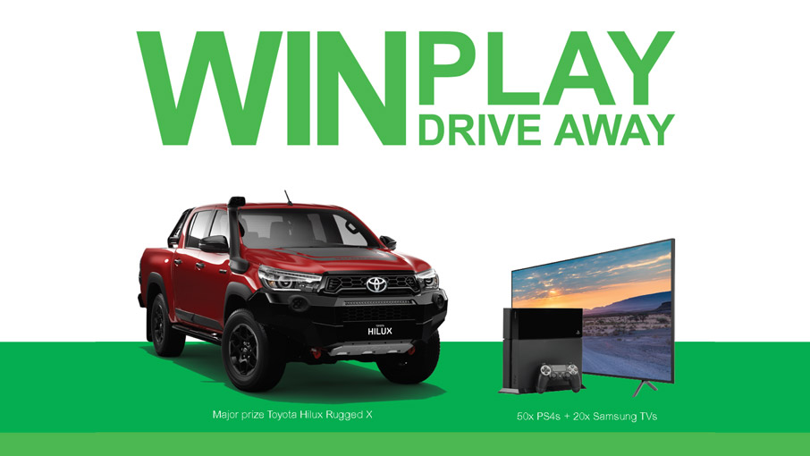 Win Play Drive away promotion