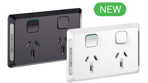 Clipsal Pro White and Black double sockets