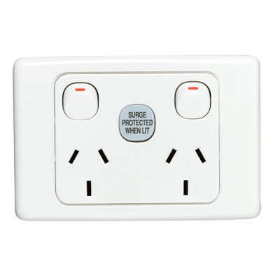 Clipsal surge protection power outlet