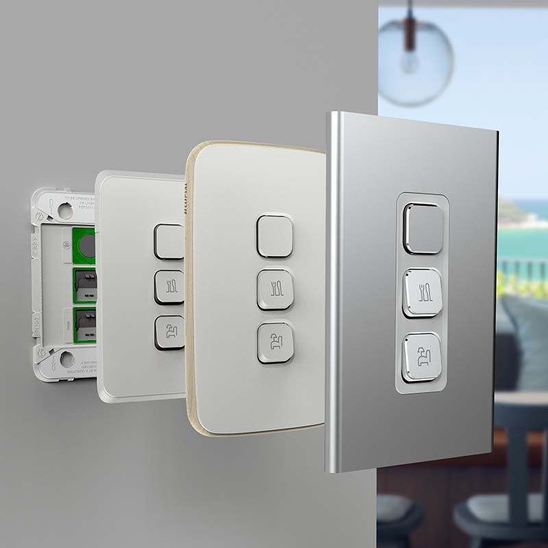 Clipsal Iconic Switches and Power Points | Slim, Sleek, Clean ...