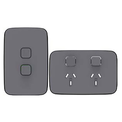 Iconic Essence Ash Grey power point and switch