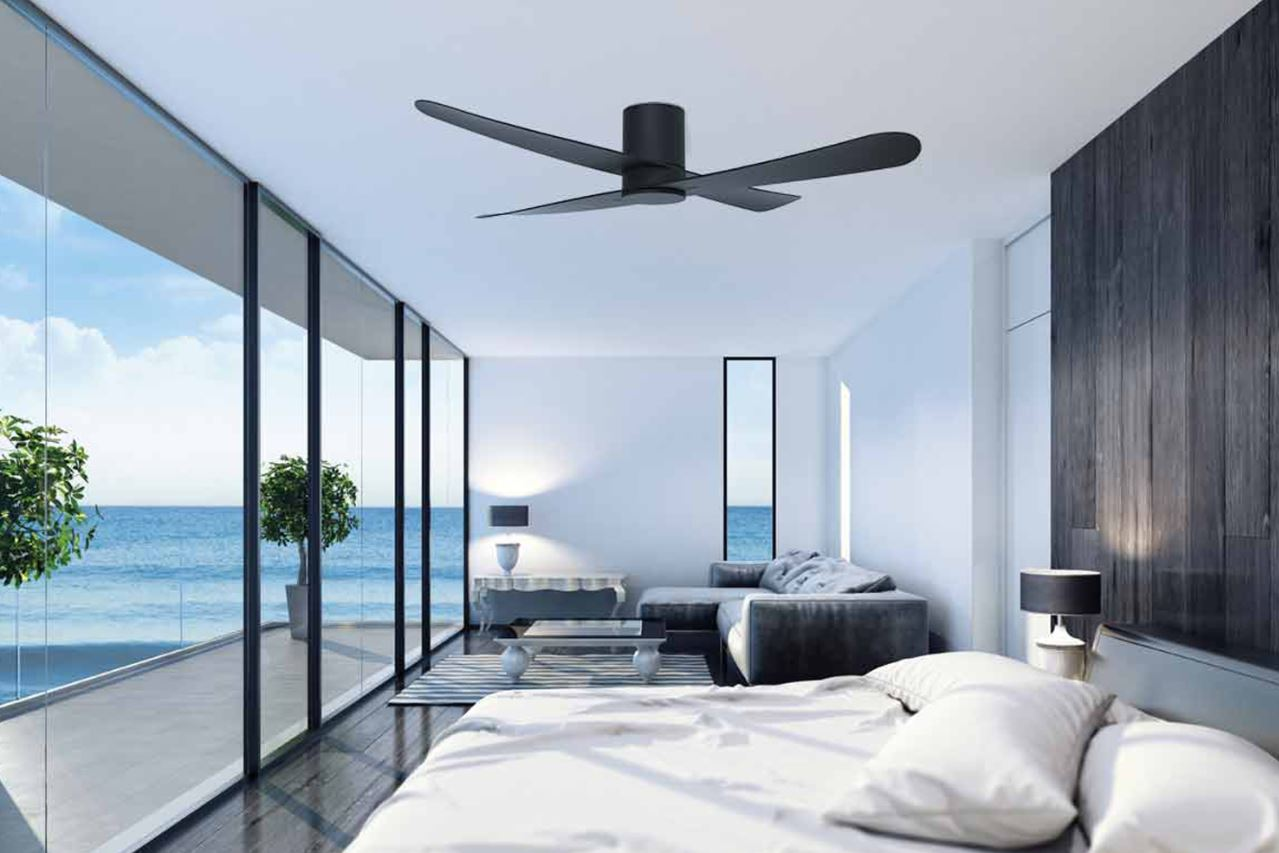 Zen fan in beach side home