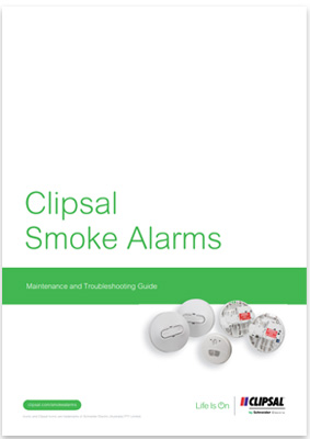 Download the Clipsal Smoke Alarm Maintenance and Troubleshooting Guide (PDF 881KB).