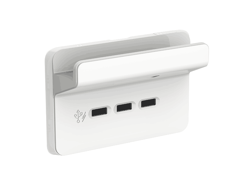 Clipsal Iconic Style USB charger handy shelf
